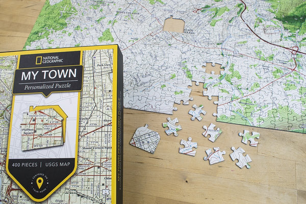 "National Geographic ""My Town"" USGS Map Jigsaw Puzzle National Geographic"
