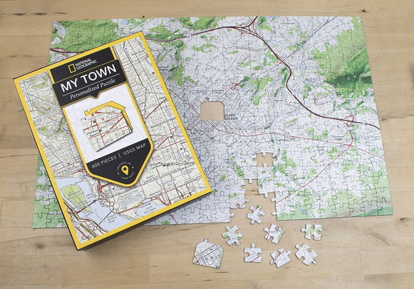 "Jigsaw Puzzle - National Geographic ""My Town"" USGS Map Jigsaw Puzzle National Geographic"