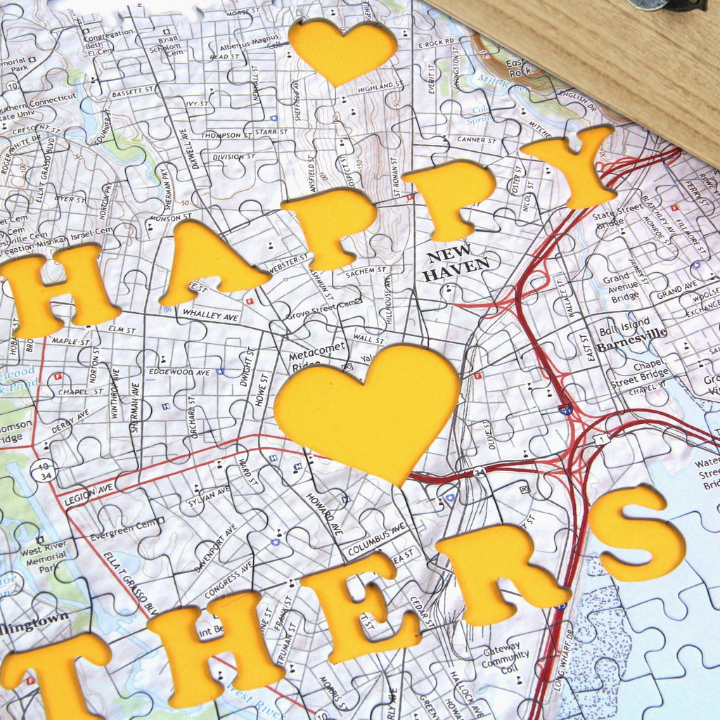 personalized mother s day gift set keepsake box and map puzzle