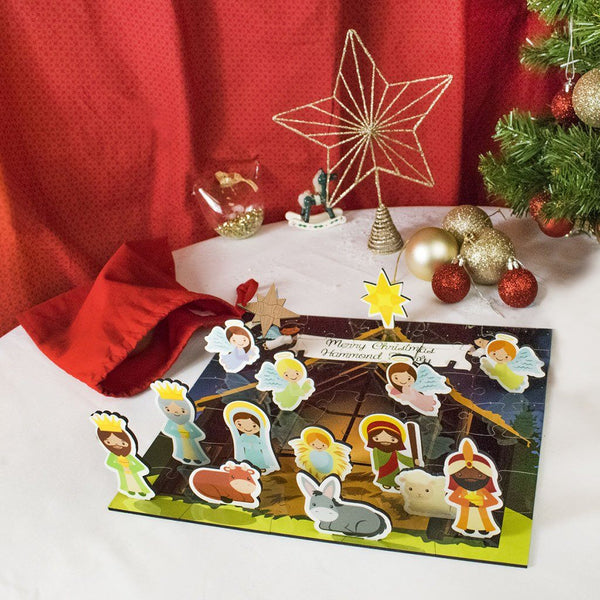 Jigsaw Puzzle - Personalized Nativity Stand Up Jigsaw Puzzle