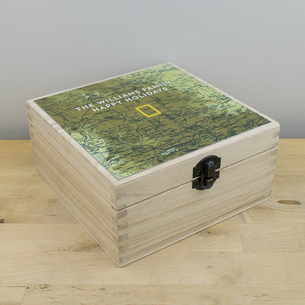 National Geographic Personalized Map Keepsake Box