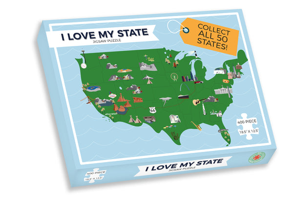 I Love My State 400 Piece Personalized Jigsaw Puzzle (Hawaii - Maryland and Washington D.C.) I Love My State 400 Piece Personalized Jigsaw Puzzle (Hawaii - Maryland and Washington D.C.)