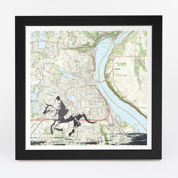 Map Gift - Horse Riding Adventure Map - Personalized