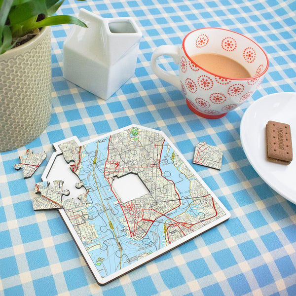 Map Gift - My Home Wooden Puzzle