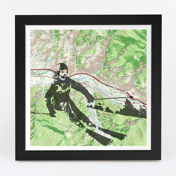 Map Gift - Personalized Skiing Adventure Map