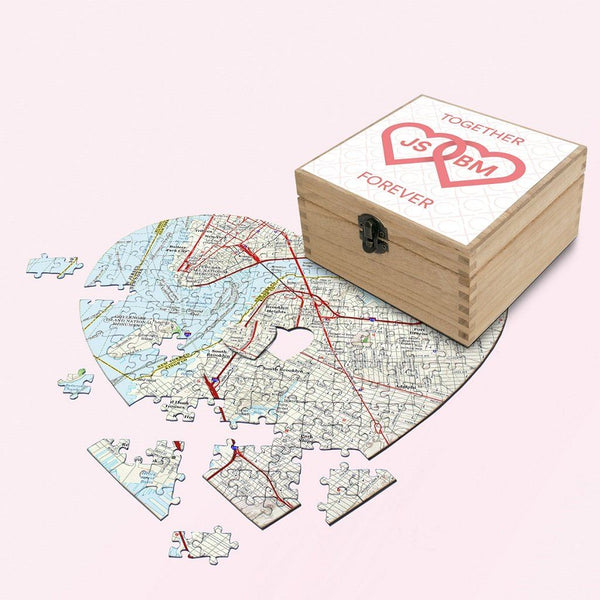 Map Gift - Personalized Valentine's Day Gift Set - Together Forever