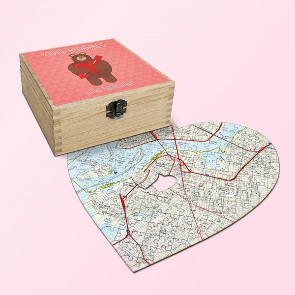 Map Gift - Personalized Valentine's Day Gift Set - You're Bearable