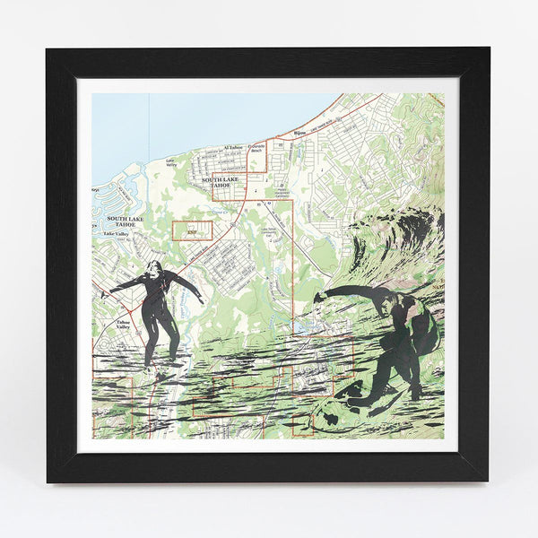 Map Gift - Surfing Adventure Map - Personalized
