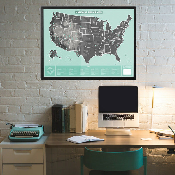 Maps - US National Parks Map - Personalized