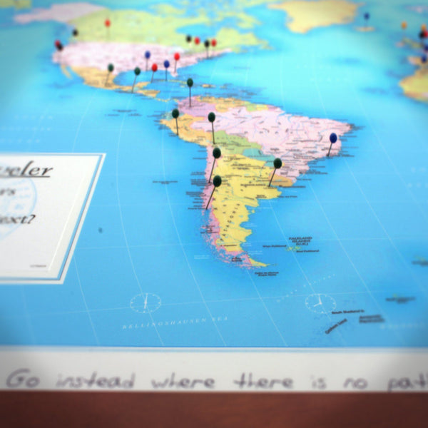 Maps - World Traveler Personalized Wall Map World Traveler Personalized Wall Map