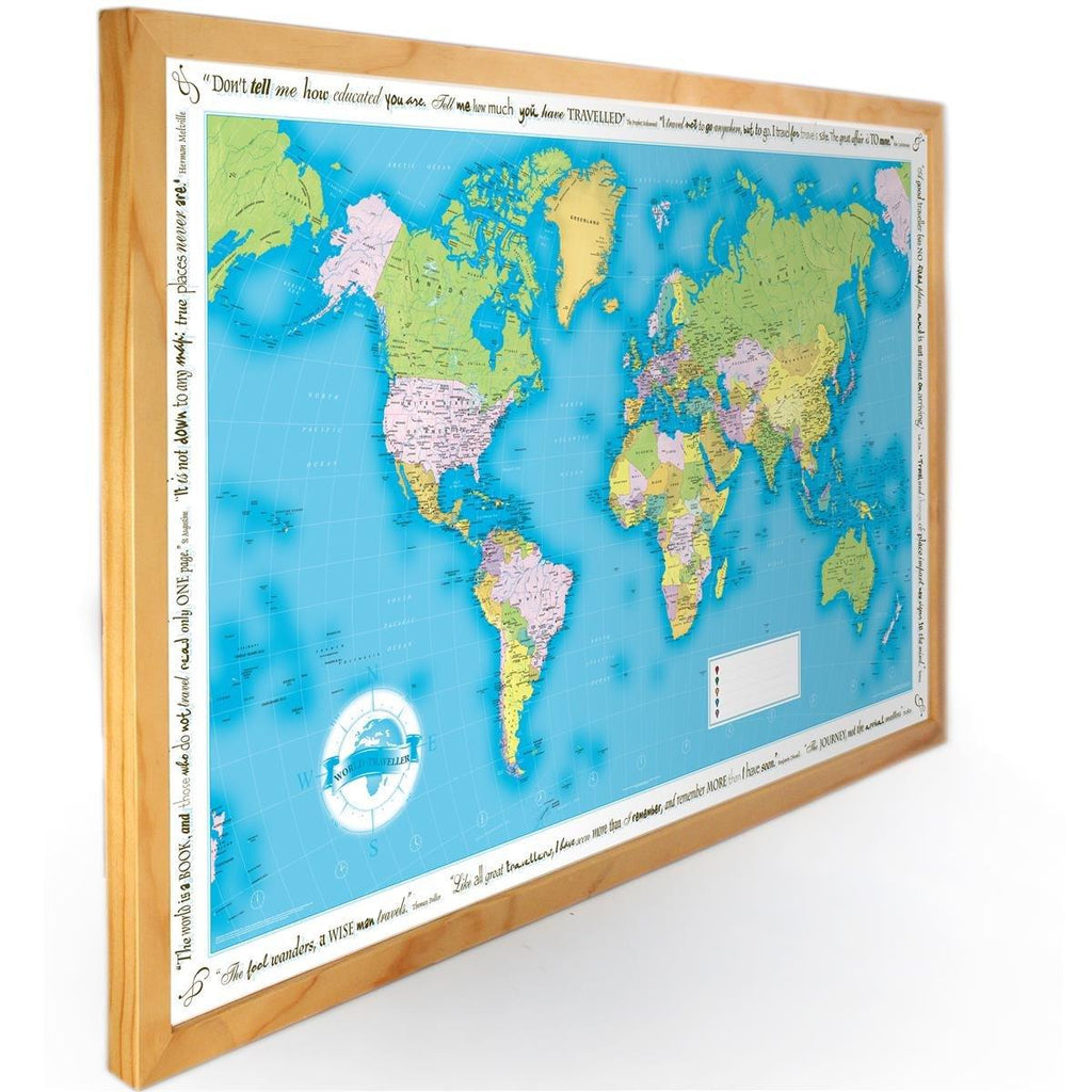 Maps - World Traveler Wall Map