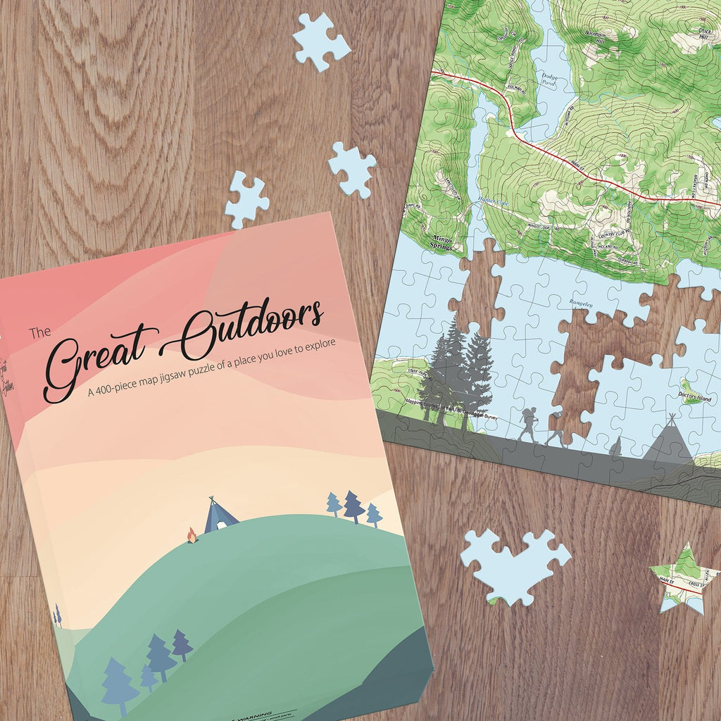 The Great Outdoors Personalized Map Jigsaw Puzzle