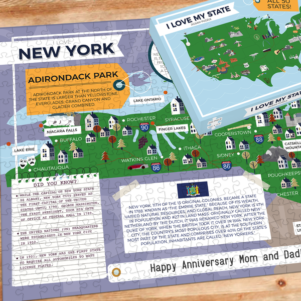 I love my state new york jigsaw puzzle
