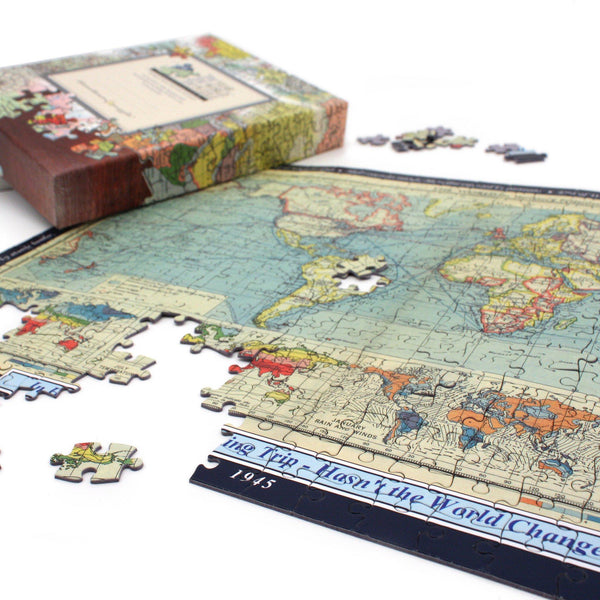 Personalized Jigsaw Puzzles - Historical World Map Personalized Jigsaw Puzzle
