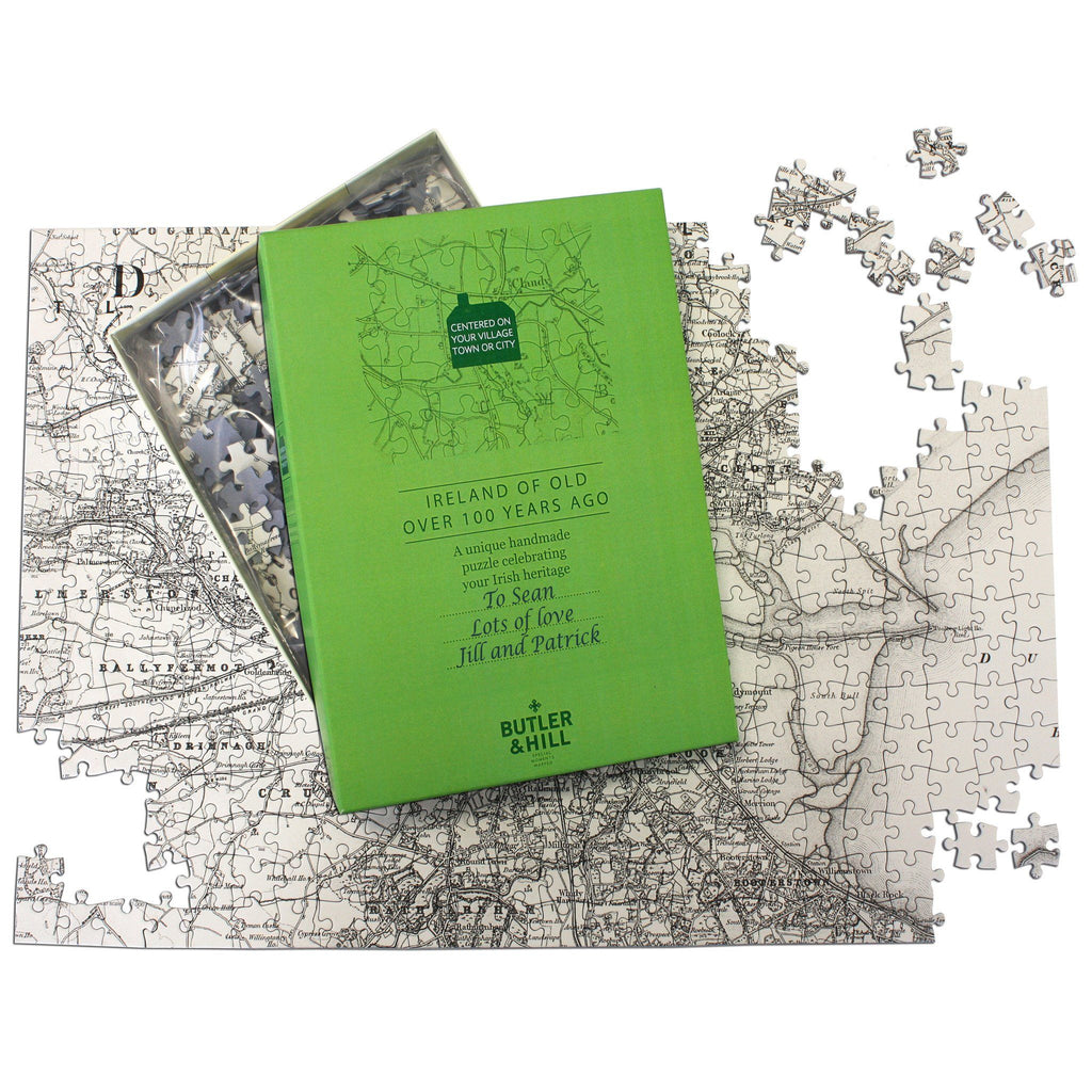 Personalized Jigsaw Puzzles - Ireland Of Old Map Jigsaw Puzzle