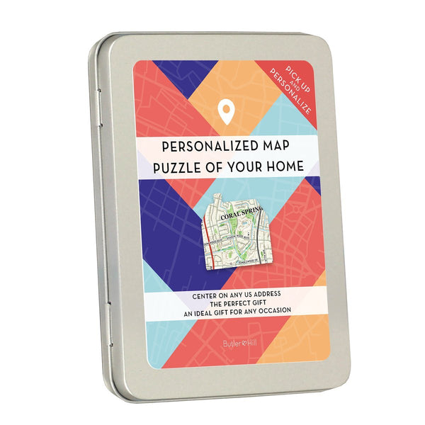 Personalized Jigsaw Puzzles - My Home Town Map Puzzle Gift Box