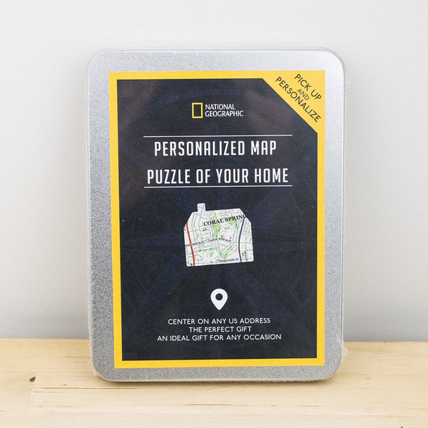 Personalized Jigsaw Puzzles - National Geographic Personalized Map Puzzle Gift Box