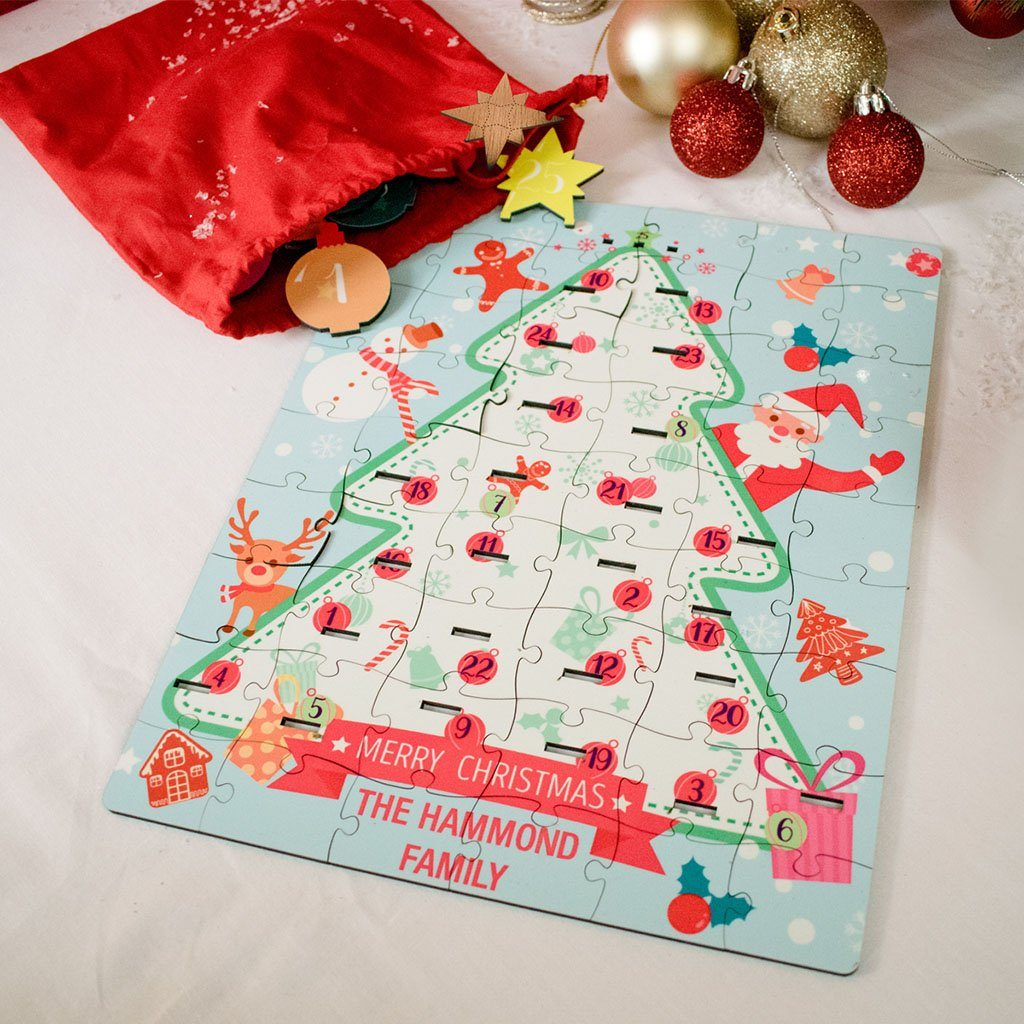 personalized advent stand up jigsaw puzzle