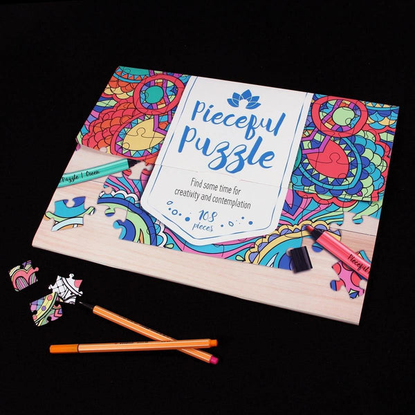 Personalized Jigsaw Puzzles - Pieceful Puzzle - Personalized Adult Coloring Wooden Jigsaw