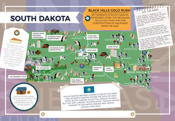 South Dakota - I Love My State 400 Piece Personalized Jigsaw Puzzle I Love My State 400 Piece Personalized Jigsaw Puzzle (South Dakota - Wyoming)