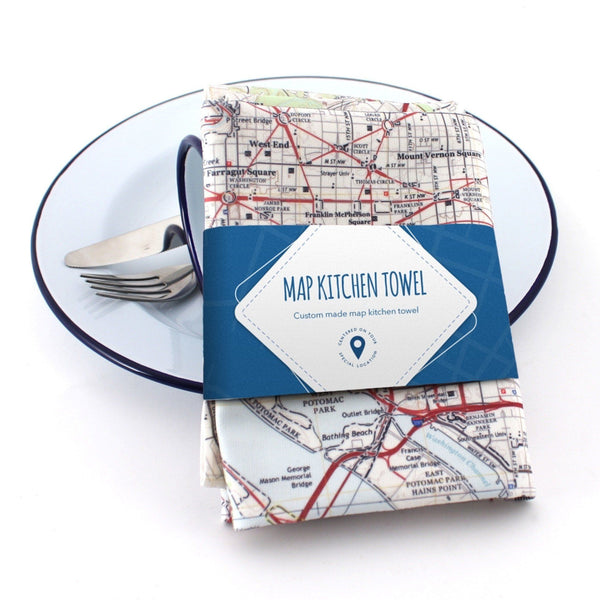 Tableware - Map Kitchen Towel
