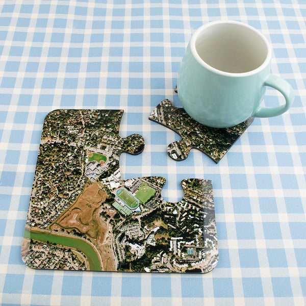 National Geographic Aerial Photo Jigsaw Coasters