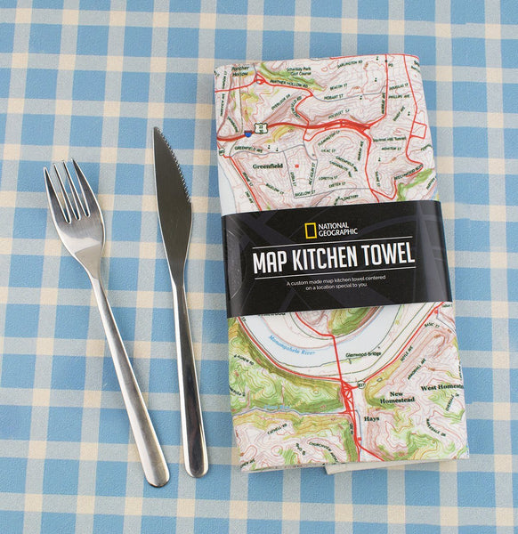 National Geographic Map Kitchen Towel