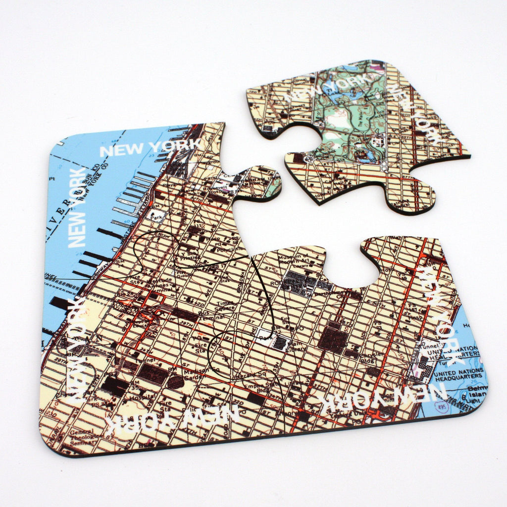 Tableware - New York City Map Coasters And Placemats