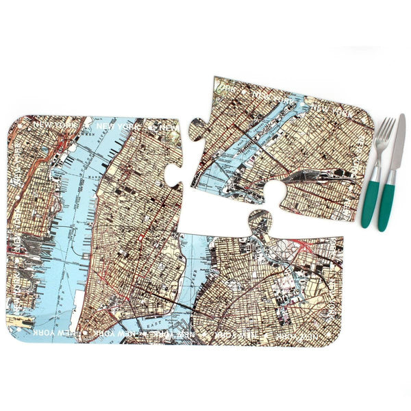 Tableware - New York City Map Coasters And Placemats New York City Map Coasters and Placemats