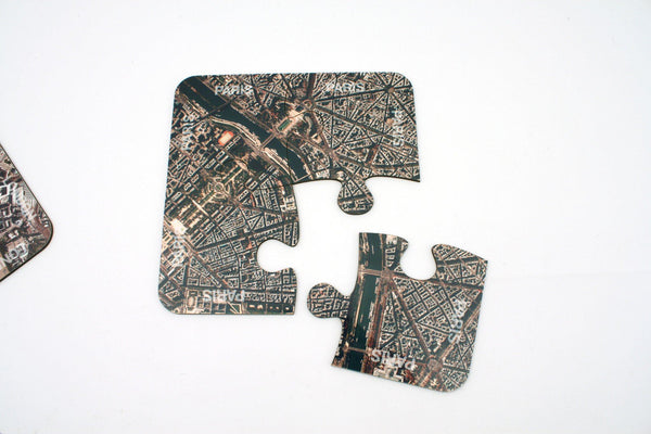 Tableware - Paris City Map Coasters And Placemats Paris City Map Coasters and Placemats