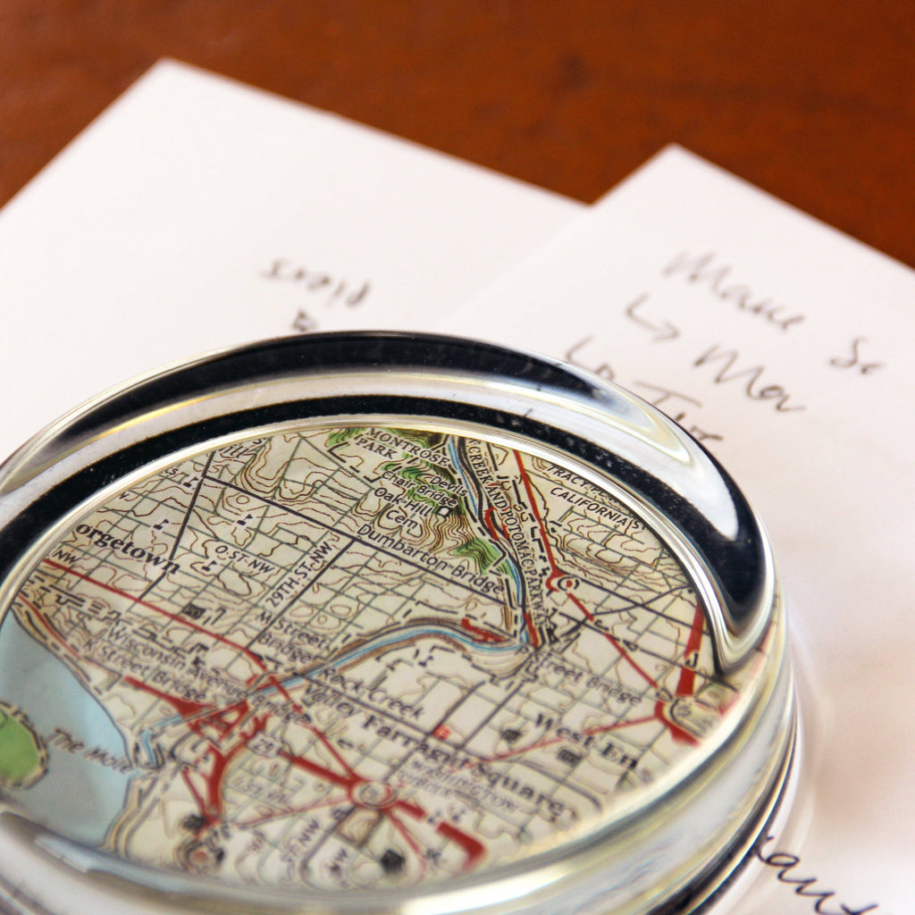 Tableware - Personalized Map Paperweight