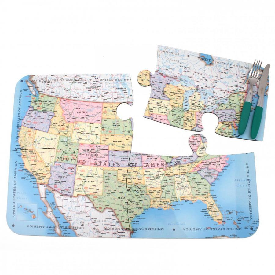USA Map Jigsaw Placemats