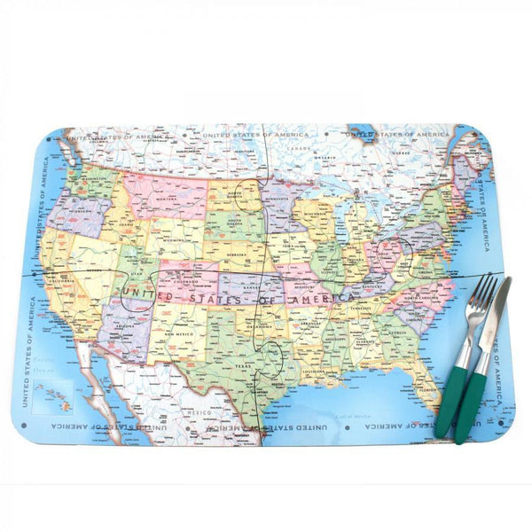 Tableware - USA Map Jigsaw Placemats USA Map Jigsaw Placemats
