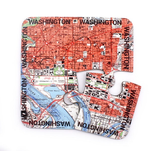 Tableware - Washington DC Map Coasters And Placemats