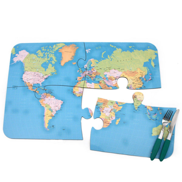 Tableware - World Map Jigsaw Placemats