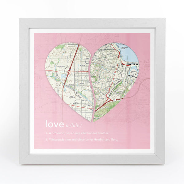 Wall Art - Joined Map Heart – Personalized Dictionary Definition Map Art - Love Joined Map Heart – Personalized Dictionary Definition Map Art - Love