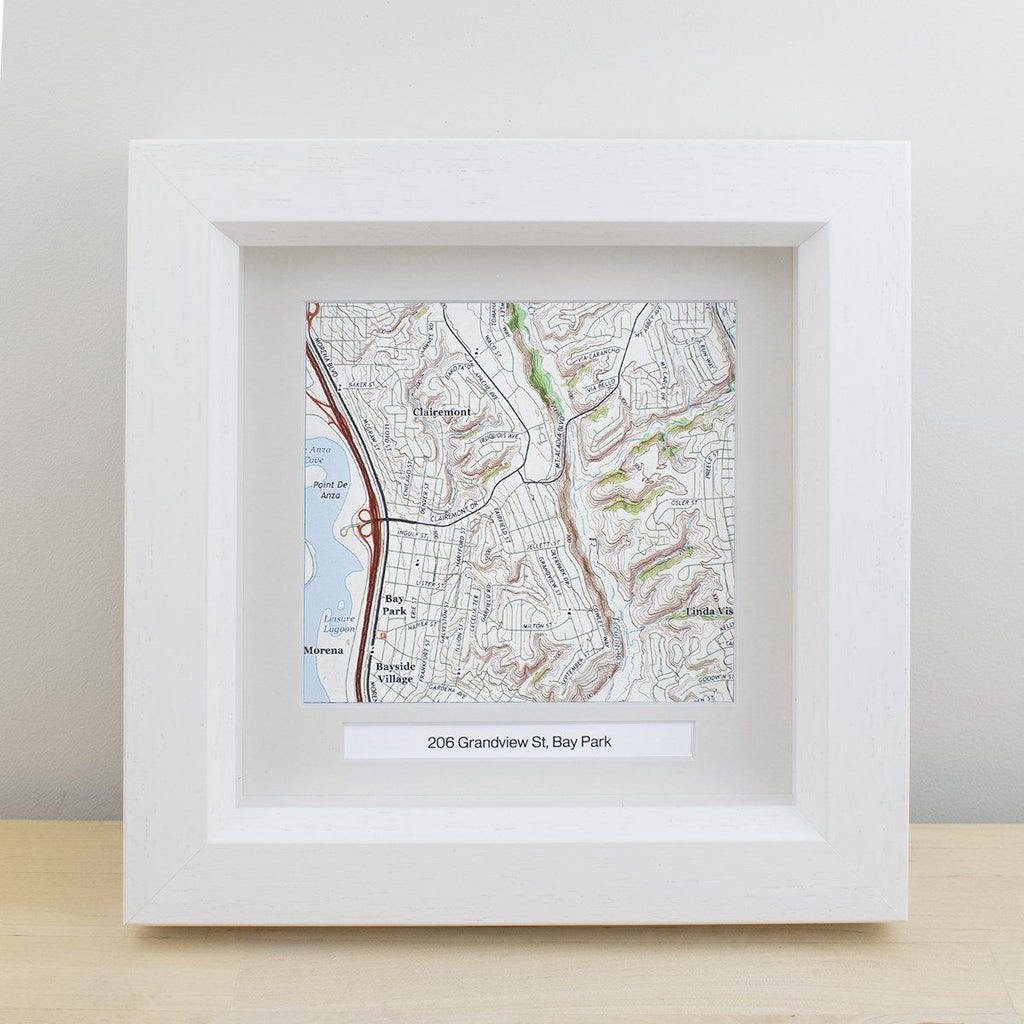 "National Geographic ""My Home"" Personalized Framed Map"