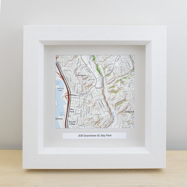 "Wall Art - National Geographic ""My Home"" Personalized Framed Map"