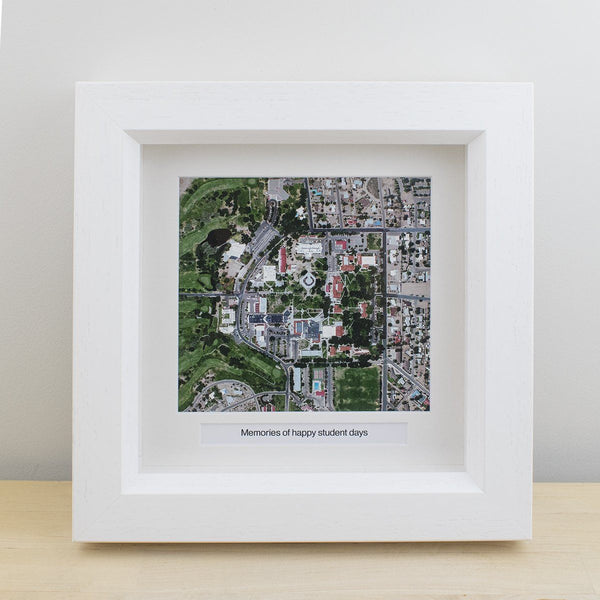 "National Geographic ""My Home"" Personalized Framed Map National Geographic"
