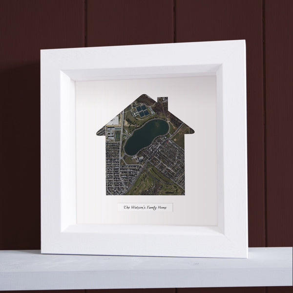 "Wall Art - ""Our Home"" Personalized Framed Map"