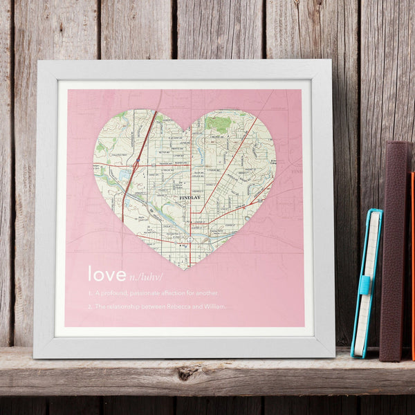Wall Art - Personalized Dictionary Definition Map - Love (fab.com Exclusive)