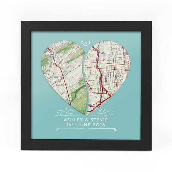 Wall Art - Personalized Joint Heart Map (fab.com Exclusive)