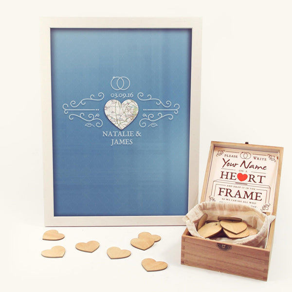 Wall Art - Personalized Map And Wedding Box (fab.com Exclusive)