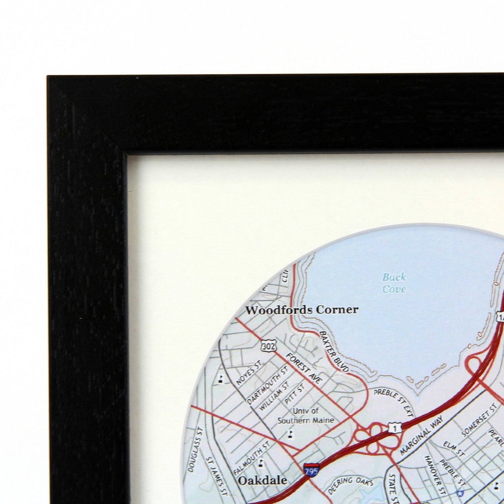 Trio of Personalized Map Circles - USGS Mapping