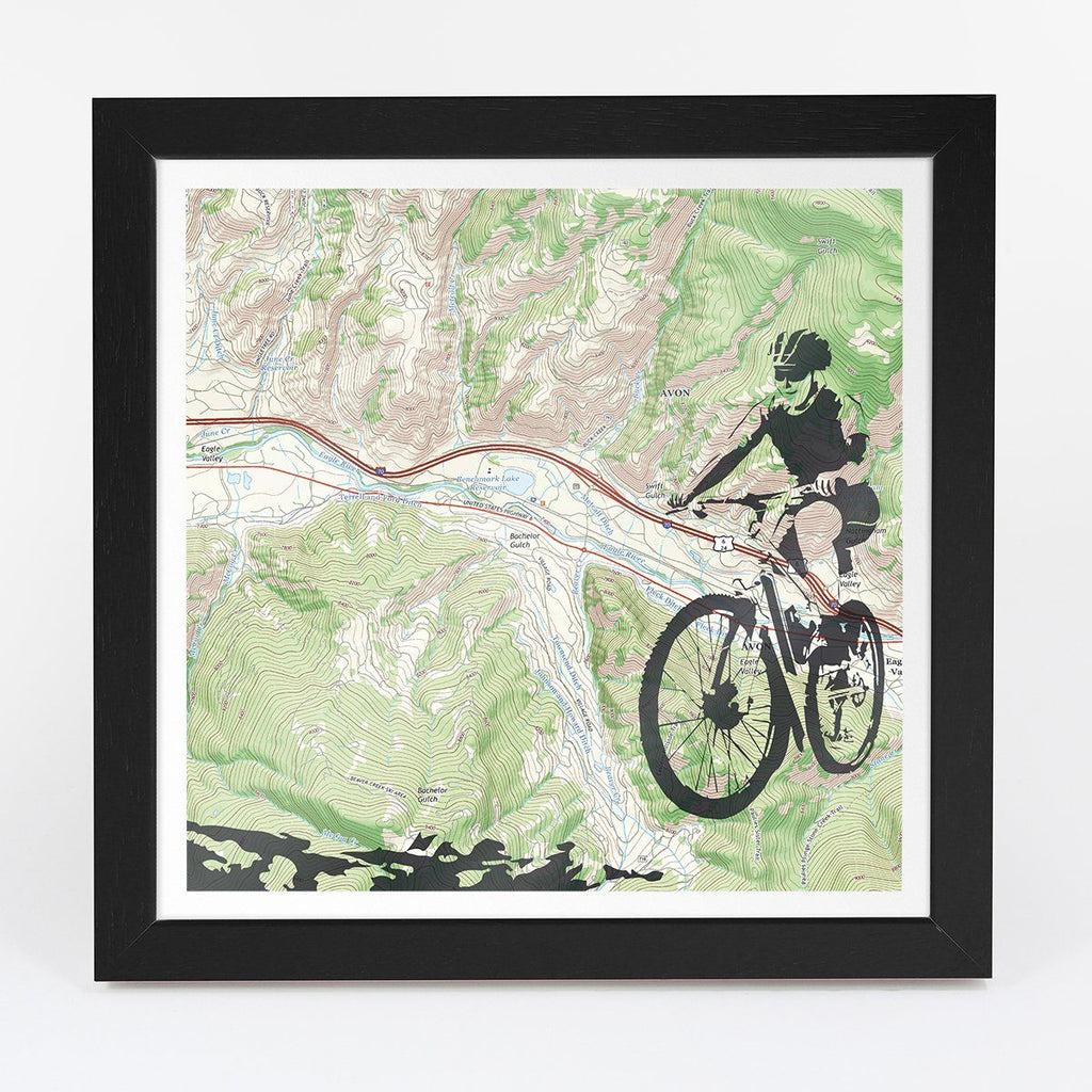 Wall Map - Personalized Mountain Biking Adventure Map