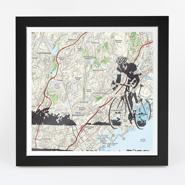 Wall Map - Personalized Road Cycling Adventure Map