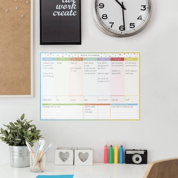 Wall Planners - LAMINATED WEEKLY WALL PLANNER