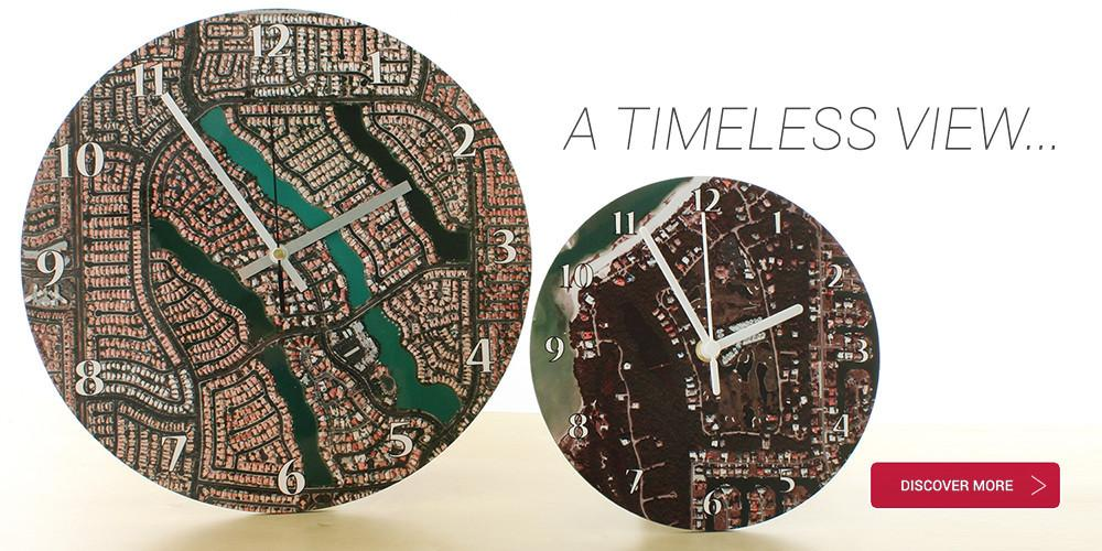 Personalized map clocks