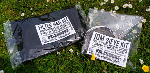 10M Sieve Kit + Filter Bags for Filtering Infusions NZ
