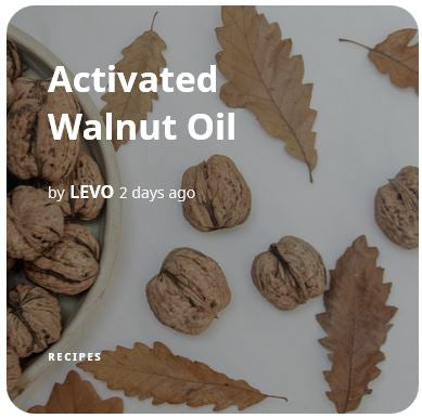 Activated Walnut Oil